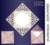 laser cut square envelope with... | Shutterstock .eps vector #1009194985