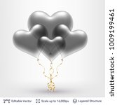 bunch of 3d heart shaped air... | Shutterstock .eps vector #1009199461