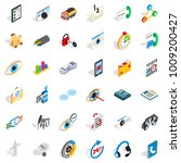 backbone icons set. isometric... | Shutterstock .eps vector #1009200427