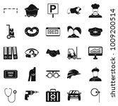 ideal job icons set. simple set ... | Shutterstock .eps vector #1009200514