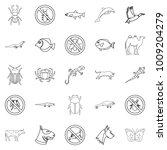 proud animal icons set. outline ... | Shutterstock .eps vector #1009204279
