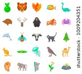 warm blooded icons set. cartoon ... | Shutterstock .eps vector #1009204351