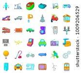 mechanical icons set. cartoon...   Shutterstock .eps vector #1009206529