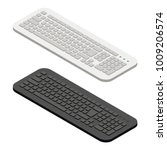 keyboard isometric in white and ... | Shutterstock .eps vector #1009206574