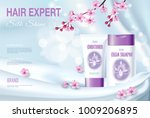 realistic 3d detailed hair care ... | Shutterstock .eps vector #1009206895