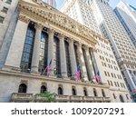 new york stock exchange facade... | Shutterstock . vector #1009207291