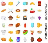 variety of food icons set....   Shutterstock .eps vector #1009207969