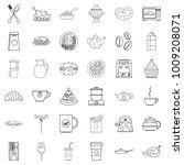 feast icons set. outline set of ... | Shutterstock .eps vector #1009208071