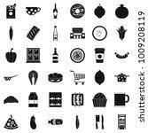 formal dinner icons set. simple ... | Shutterstock .eps vector #1009208119