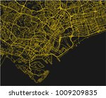 black and yellow vector city... | Shutterstock .eps vector #1009209835