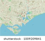 vector city map of singapore... | Shutterstock .eps vector #1009209841