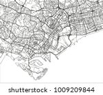 black and white vector city map ... | Shutterstock .eps vector #1009209844