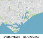 vector city map of singapore... | Shutterstock .eps vector #1009209859
