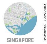 minimalistic singapore city map ... | Shutterstock .eps vector #1009209865