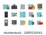 server icon set. flat set of...   Shutterstock .eps vector #1009210141
