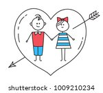 happy valentines card. loving... | Shutterstock .eps vector #1009210234