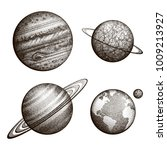 collection of planets in solar... | Shutterstock .eps vector #1009213927