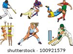 team sport icons   outdoor | Shutterstock .eps vector #100921579