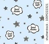 baby sleep blue illustration... | Shutterstock .eps vector #1009222321