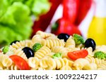 vegetarian vegetable pasta... | Shutterstock . vector #1009224217