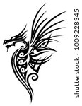 great fantasy dragon with wings.   Shutterstock .eps vector #1009228345