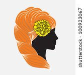 floral abstract woman  vector... | Shutterstock .eps vector #100923067