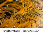 electronic board with the lines ... | Shutterstock . vector #1009233664