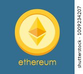 ethereum logo. cryptocurrency... | Shutterstock .eps vector #1009234207