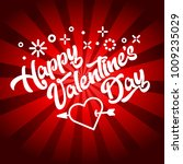 happy valentine's day greeting... | Shutterstock .eps vector #1009235029