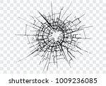 broken glass  cracks  bullet...   Shutterstock .eps vector #1009236085