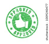 approved rubber stamp vector | Shutterstock .eps vector #1009240477