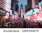 times square at new york city ... | Shutterstock . vector #1009244074