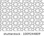 seamless geometric ornamental... | Shutterstock .eps vector #1009244809