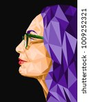 low poly abstract portrait in... | Shutterstock .eps vector #1009252321