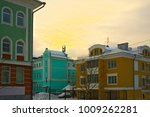 at home on a frosty day at... | Shutterstock . vector #1009262281