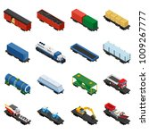 trains isometric set of freight ... | Shutterstock .eps vector #1009267777