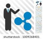 businessman show ripple... | Shutterstock .eps vector #1009268401