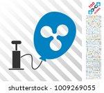 pump ripple balloon pictograph... | Shutterstock .eps vector #1009269055