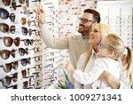 four year little girl in optics ... | Shutterstock . vector #1009271341