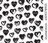grunge hearts paint brush... | Shutterstock .eps vector #1009278955