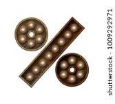 rusted metal percentage symbol... | Shutterstock . vector #1009292971