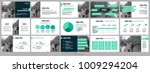 green presentation templates... | Shutterstock .eps vector #1009294204
