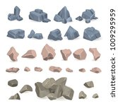 stone rock vector rockstone of... | Shutterstock .eps vector #1009295959