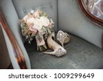 Brides Wedding Shoes With A...
