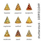 set of different doodle colored ... | Shutterstock .eps vector #1009311049
