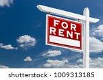 left facing for rent real... | Shutterstock . vector #1009313185