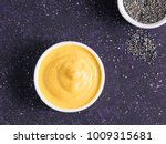 creamy cheddar sauce with chia... | Shutterstock . vector #1009315681