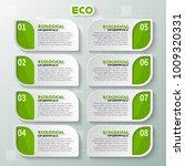 vector abstract 3d paper... | Shutterstock .eps vector #1009320331
