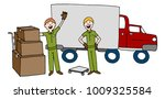 an image of a moving company...   Shutterstock .eps vector #1009325584