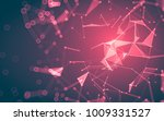 abstract polygonal space low... | Shutterstock . vector #1009331527